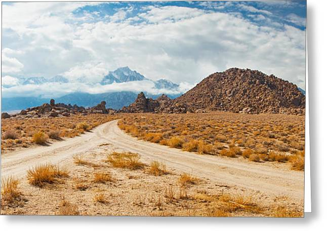 Lone Pine Greeting Cards - Converging Roads, Alabama Hills, Owens Greeting Card by Panoramic Images