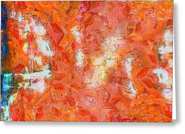 Speaking Greeting Cards - Conversation Abstract Greeting Card by Edward Fielding