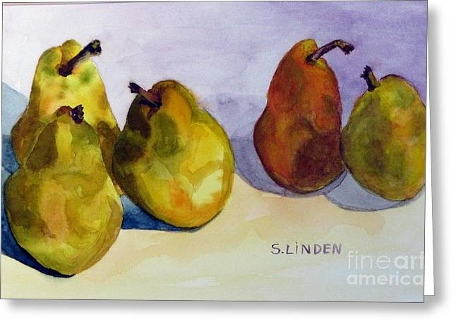 Fruits And Vegetables Greeting Cards - Conversation Groups Greeting Card by Sandy Linden