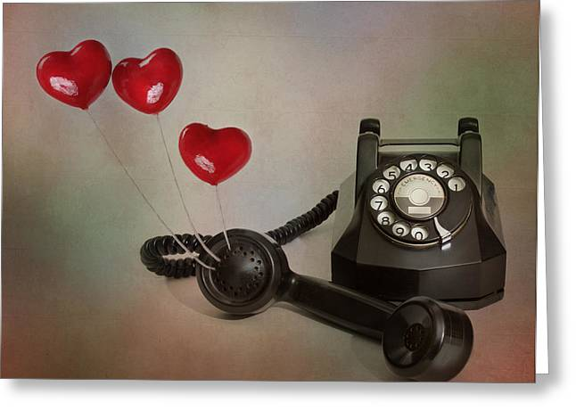 Handset Greeting Cards - Conversation of Love Greeting Card by David and Carol Kelly