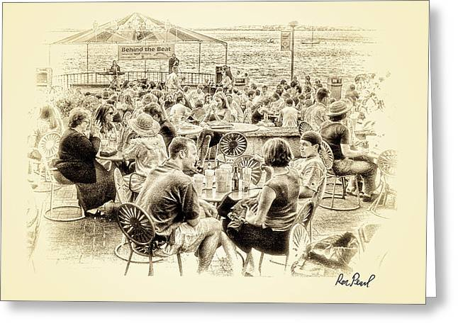 Conversations in Black and White Greeting Card by Ron Pearl