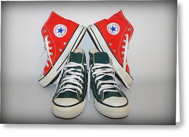 University Of Miami Greeting Cards - Converse Greeting Card by Jen T