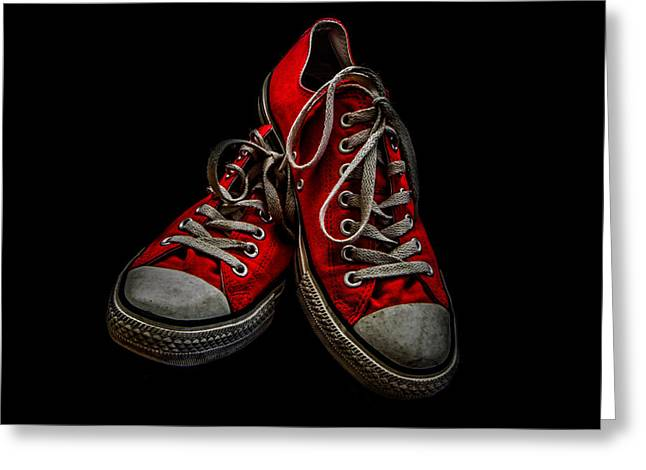 Entspannung Greeting Cards - Converse No 4 - Red Greeting Card by Lubos Kavka