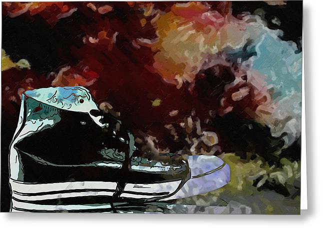 Sneaker Greeting Cards - Converse sports shoes Greeting Card by Toppart Sweden