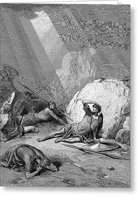 Dore Greeting Cards - Conversion of Saul  Greeting Card by Gustave Dore