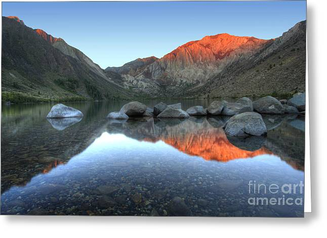Nada Mas Photography Llc. Greeting Cards - Convict Lake First Light Greeting Card by Marco Crupi