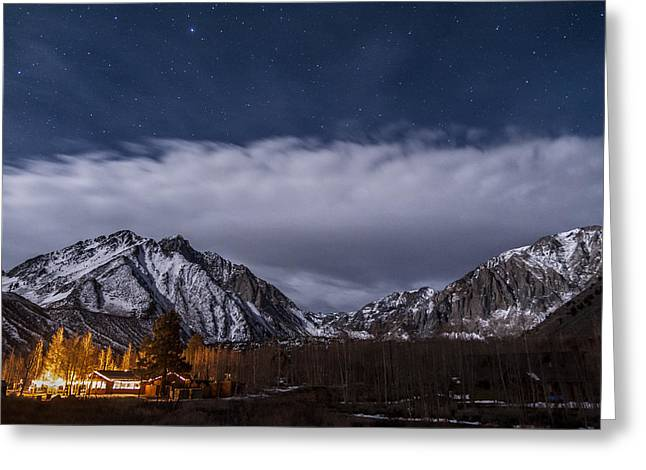 California Adventure Greeting Cards - Convict Lake Resort Greeting Card by Cat Connor