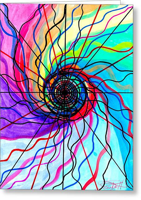 Recently Sold -  - Geometric Image Greeting Cards - Convolution Greeting Card by Teal Eye  Print Store