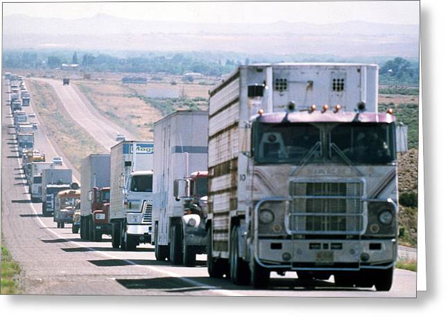 Convoy Greeting Cards - Convoy  Greeting Card by Silver Screen