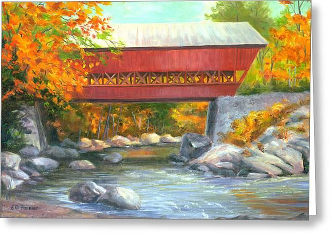 Conway Covered Bridge #47 Greeting Card by Elaine Farmer
