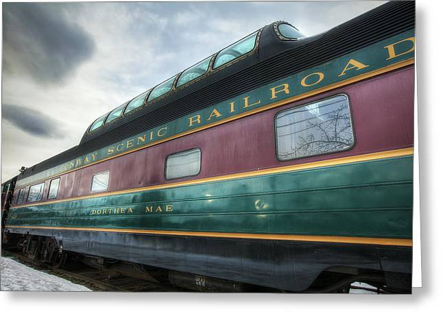 North Conway Greeting Cards - Conway Scenic Railroad Greeting Card by Eric Gendron