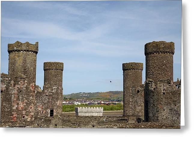 Conwy Castle (circa 1287 Greeting Card by David Wall