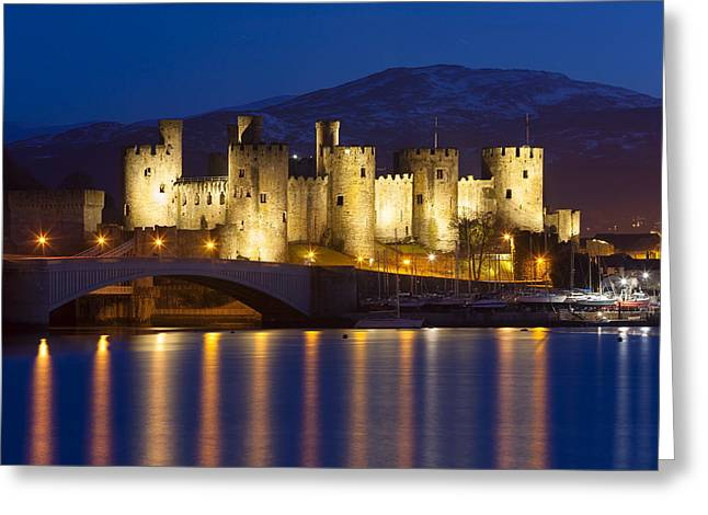 Mediaeval Greeting Cards - Conwy Castle Greeting Card by Sebastian Wasek