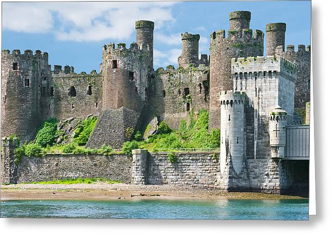 Jane Mcilroy Greeting Cards - Conwy Castle Wales Greeting Card by Jane McIlroy