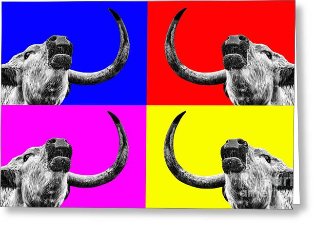 Colourful Art Greeting Cards - Coo pop art too Greeting Card by John Farnan