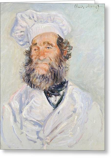 Signature Greeting Cards - Cook Greeting Card by Claude Monet