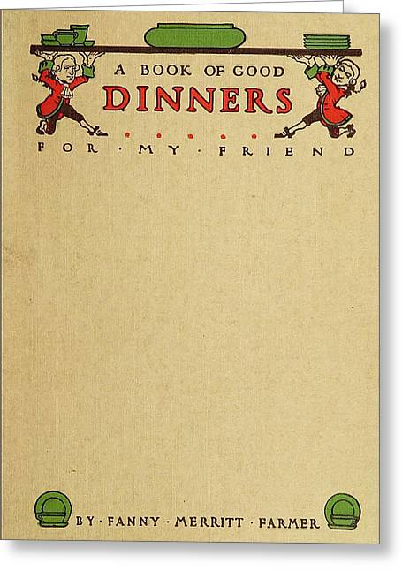 Cookbook, 1914 Greeting Card by Granger
