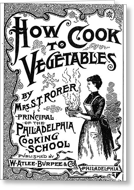 Cookbook, 19th Century Greeting Card by Granger