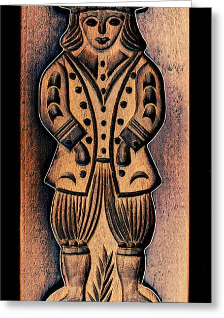 Wood Carving Greeting Cards - Cookie Baking Mold 14 Greeting Card by Hanne Lore Koehler