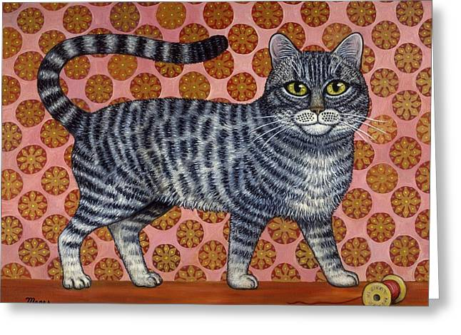 Cat Greeting Cards - Cookie Cat Greeting Card by Linda Mears