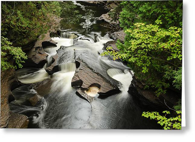 Thomas Pettengill Greeting Cards - Cookie Cutter Falls Greeting Card by Thomas Pettengill