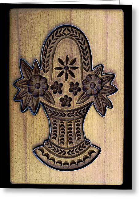 Hand Carved Greeting Cards - Cookie Mold 15 Greeting Card by Hanne Lore Koehler