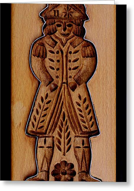 Hand Carved Greeting Cards - Cookie Mold 7 Greeting Card by Hanne Lore Koehler