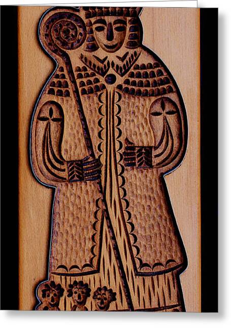Carving Reliefs Greeting Cards - Cookie Mold 8 Greeting Card by Hanne Lore Koehler
