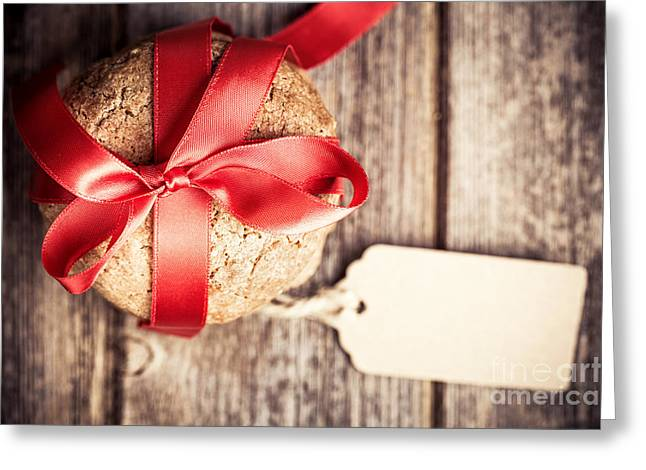 Label Photographs Greeting Cards - Cookies with tag retro Greeting Card by Jane Rix