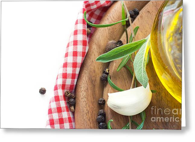 Mythja Greeting Cards - Cooking ingredients Greeting Card by Mythja  Photography
