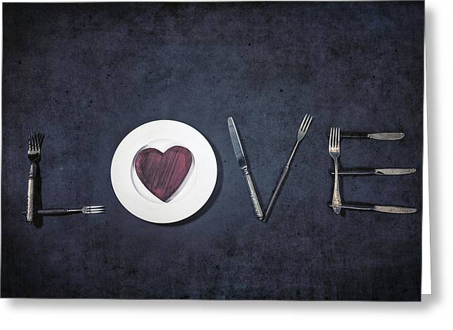 Valentines Day Greeting Cards - Cooking With Love Greeting Card by Joana Kruse