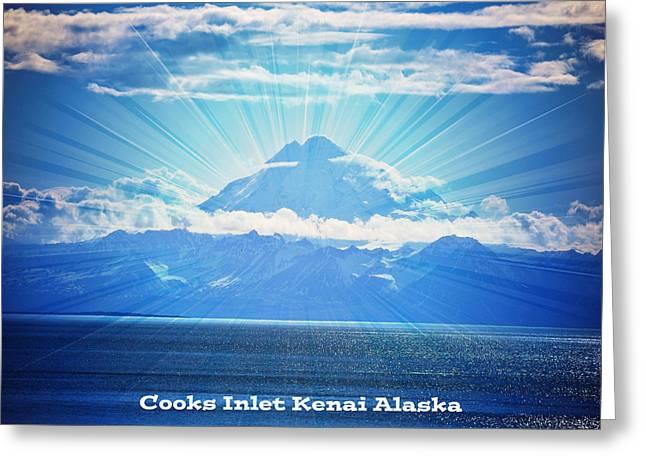 Cooks Inlet Greeting Card by Debra  Miller