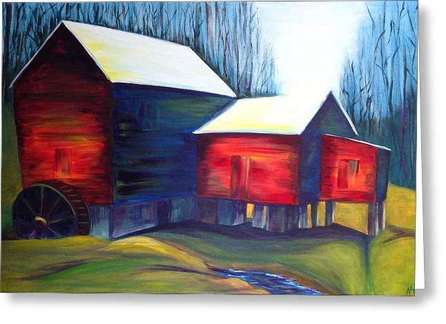 Mebane North Carolina Greeting Cards - Cooks Mill Greeting Card by Alicia Tanner