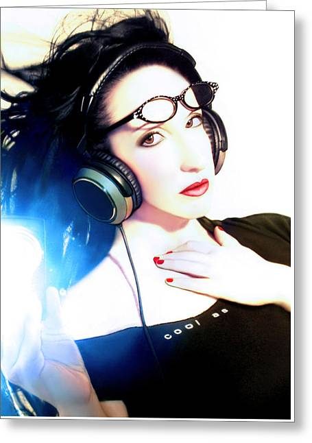 Self-portrait Photographs Greeting Cards - Cool As - Self Portrait Greeting Card by Jaeda DeWalt