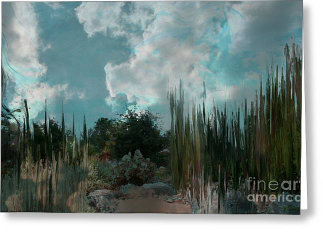 - Cool Blue Evening Greeting Card by Sherri  Of Palm Springs