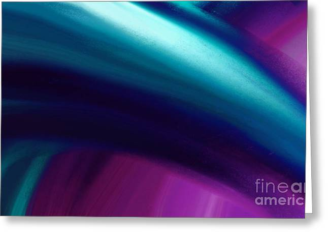 Abstract Digital Paintings Greeting Cards - Cool Breeze Greeting Card by Anita Lewis