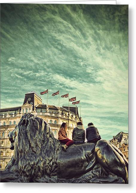 Cool Lion Greeting Cards - Cool Britannia Greeting Card by Jasna Buncic