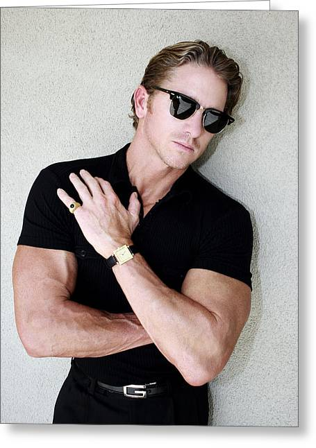 Male Model Greeting Cards - COOL CAL Palm Springs Greeting Card by William Dey