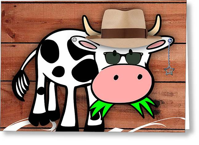 Nursery Greeting Cards - Cool Cow Collection Greeting Card by Marvin Blaine