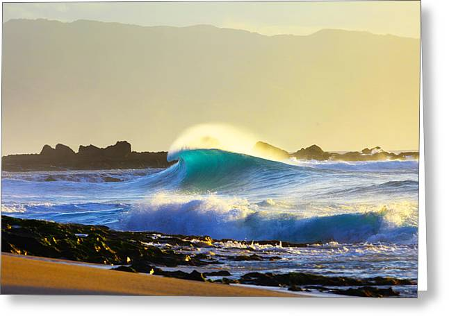 Big Surf Greeting Cards - Cool Curl Greeting Card by Sean Davey