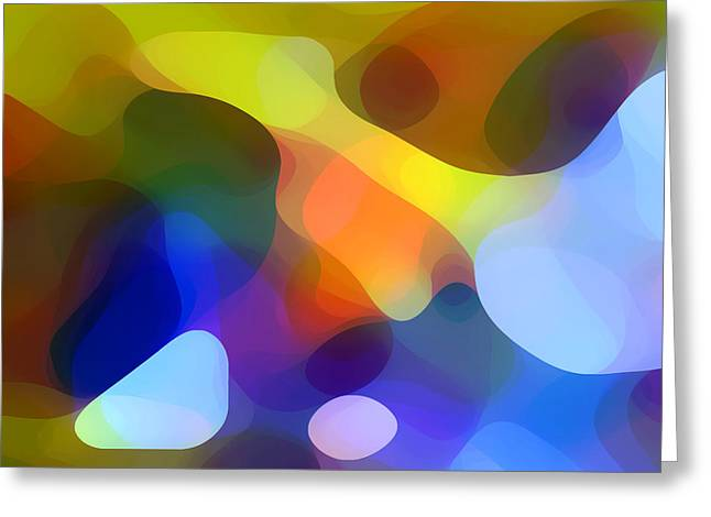 Abstract Forms Greeting Cards - Cool Dappled Light Greeting Card by Amy Vangsgard
