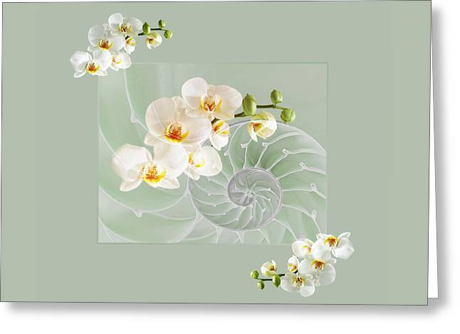 Nature Fusion Greeting Cards - Cool Green Fusion Greeting Card by Gill Billington