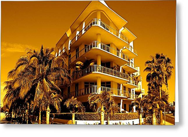 Cool Iron Building in Miami Greeting Card by Monique Wegmueller
