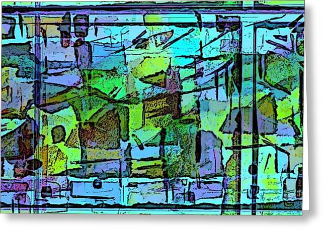 Cool Jazz Greeting Card by Mindy Newman