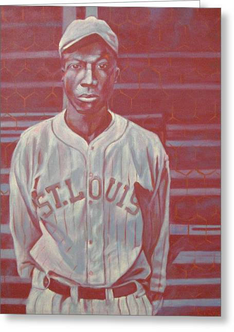 Negro Leagues Paintings Greeting Cards - Cool Papa Bell Greeting Card by Paul Smutylo