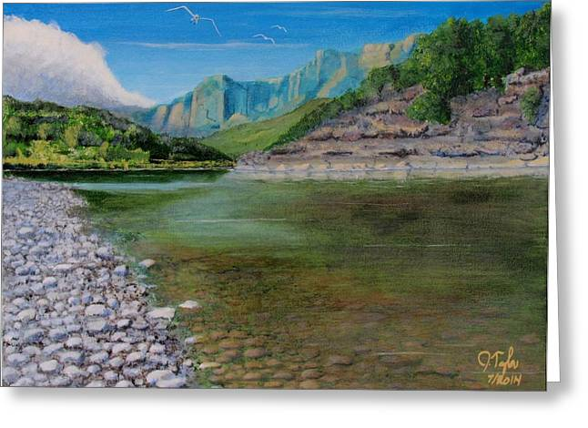 Except Greeting Cards - Cool River Greeting Card by James Taylor