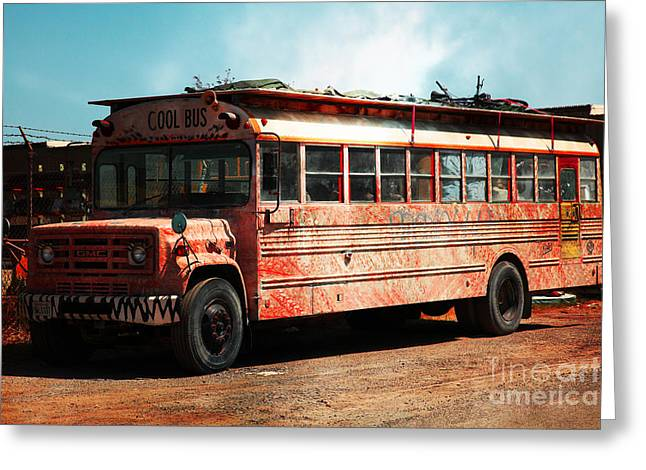 Run Down Greeting Cards - Cool School Bus 5D24927 Greeting Card by Wingsdomain Art and Photography