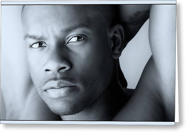 Black Man Greeting Cards - Cool Toned Cool Greeting Card by Val Black Russian Tourchin
