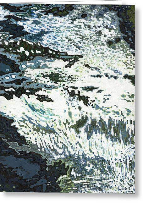 Ski Boat Prints Paintings Greeting Cards - Cool Waterfall Greeting Card by Margaret Juul
