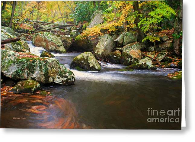 Peaceful Scene Greeting Cards - Cool Waters of Autumn Greeting Card by Darren Fisher